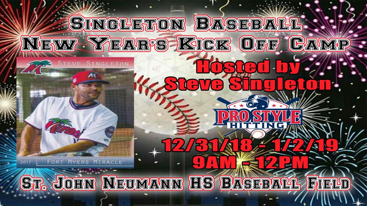 Singleton Baseball to Host a New Year's Kickoff Camp