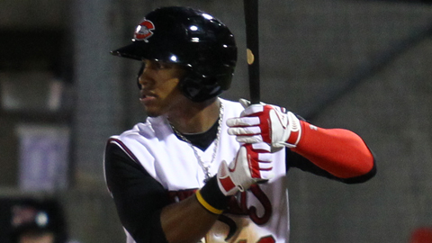 Francisco Lindor leads the Carolina League with 58 hits.