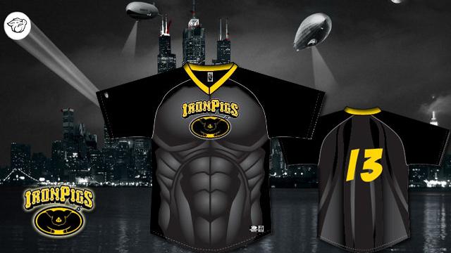 Ironpigs to host quot superhero quot night featuring batman inspired jerseys