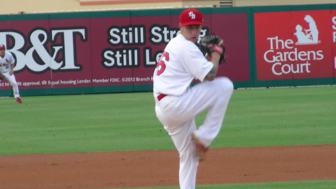 Ryan Sherriff pitched his first complete game shutout of the season on Tuesday night.