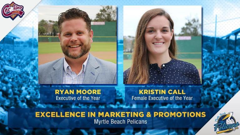 Carolina League announces 2019 off-the-field awards