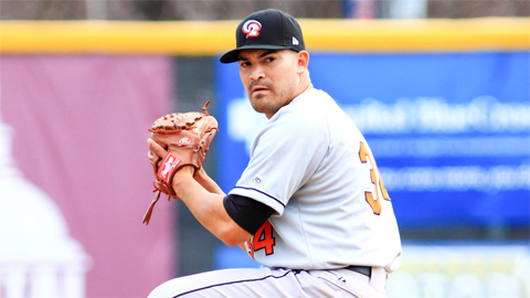 Right-hander Eddie Gamboa lowered his ERA to 3.77 in the victory.
