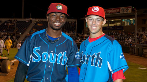 Fellow All-Stars Shawon Dunston and Dick Thon have become friends.