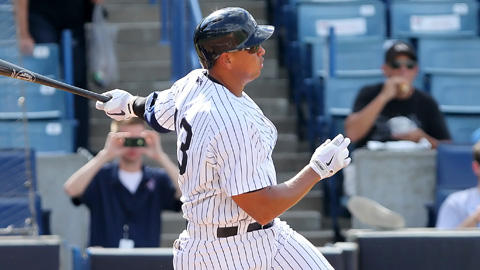 Alex Rodriguez has two home runs in 11 Minor League rehab games.