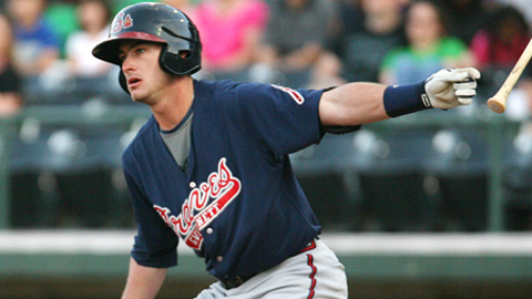 Joey Terdoslavich hit .180 and made 20 errors in 53 games for Gwinnett.