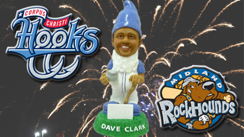A Dave Clark Garden Gnome giveaway presented by CPL Retail Energy and Bud Light Friday Fireworks highlight the Hooks-RockHounds series.