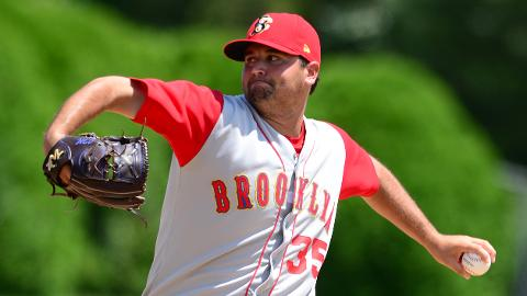 John Mincone has a 0.77 ERA with a league-high five saves for Brooklyn.