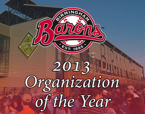 The Barons have been named the 2013 Southern League Organization of the year. In addition, GM Jonathan Nelson was also named Executive of the Year.