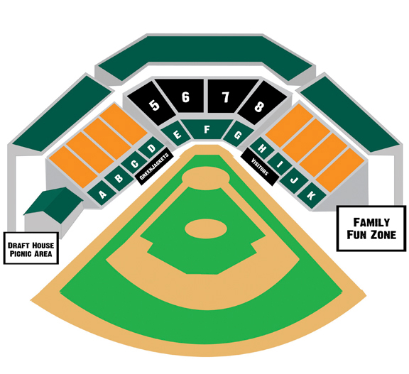 Seating Chart | Augusta GreenJackets Lake Olmstead Stadium