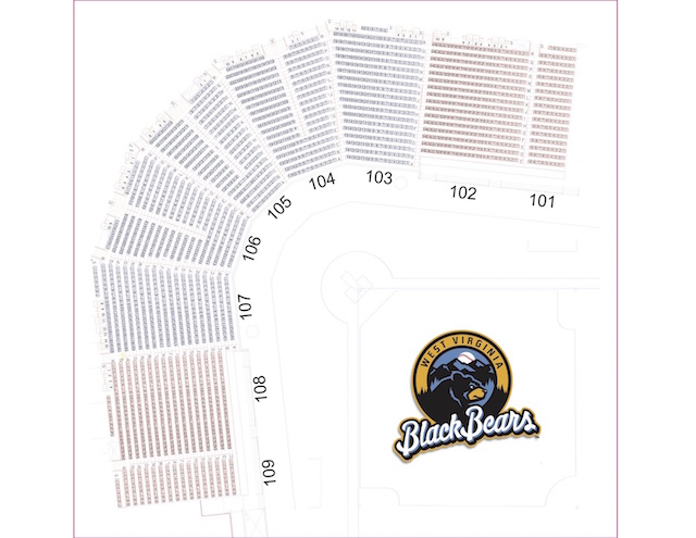 Monongalia County Ballpark Seating Chart  West Virginia Black