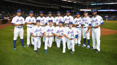 First row from right: P.J. Conlon & David Thompson (New York Mets)