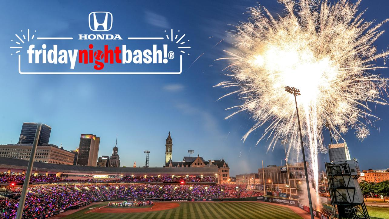 Bisons return home this week for a Honda fridaynightbash!