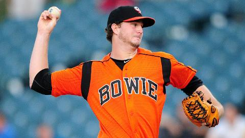 Mike Wright has tossed four straight six-inning outings for Bowie.