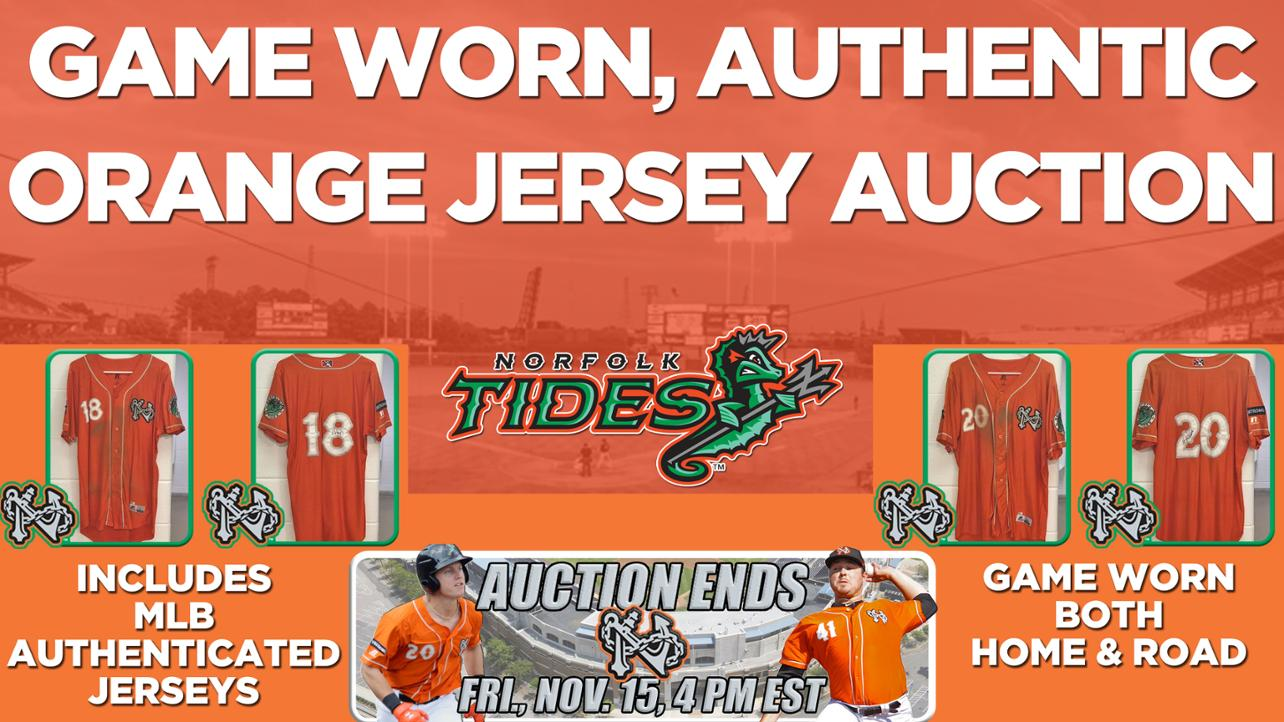 Norfolk Tides Organe Jersey Auction Ends Friday @ 4 PM!