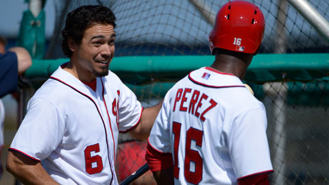 Prospects Rendon (left) and Eury Perez both saw action Saturday.