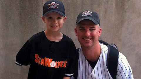 Tim Kane and his son, Peyton, are Erie fans headed to Double-A Corpus Christi.