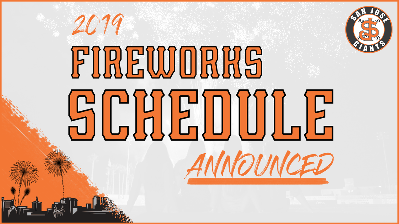 2019 Fireworks Schedule