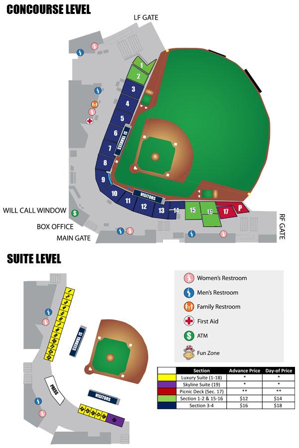 Seating Chart | Staten Island Yankees Ballpark