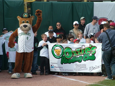 Since Ozzie's Reading Club began 18 years ago, more than 2.1 million Chicagoland youth have participated in the Cougars' reading incentive program.