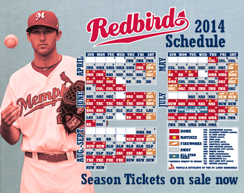 The 2014 home schedule includes 11 homestands, 34 weekend dates (Fri.-Sun.), and 12 matinees.