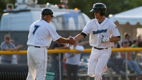 Chad Pinder hit a two-run homer in Lake Monsters season-finale loss.