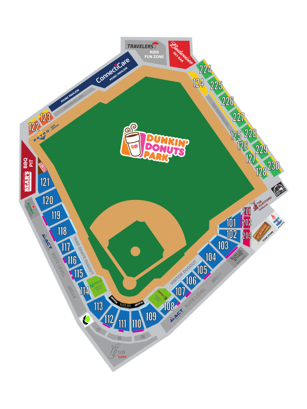Dunkin Donuts Park In This Section Seating Chart