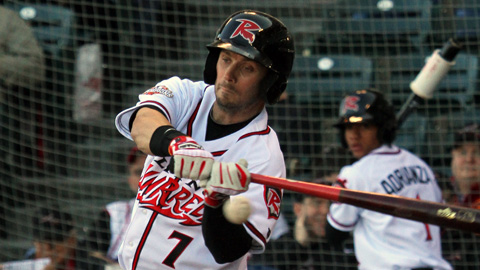 Ryan Lollis hits first homerun of the season in the sixth inning.