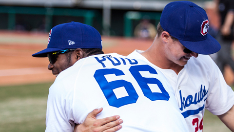 Yasiel Puig and Joc Pederson have combined for 57 RBIs.