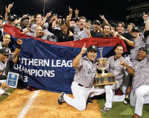 The Barons clinched the 2013 Southern League Championship with a 4-2 win over Mobile.