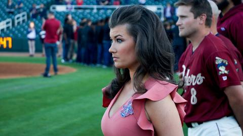 Broadcaster Melanie Newman will work as sideline reporter for 11 televised Frisco games this season.