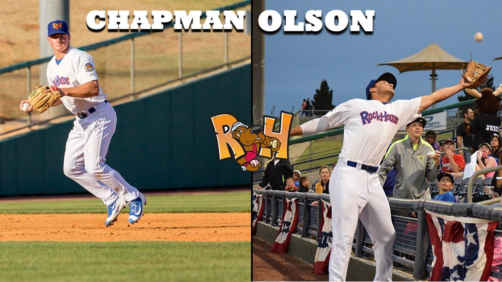 Former Hounds Chapman, Olson Win Gold Gloves