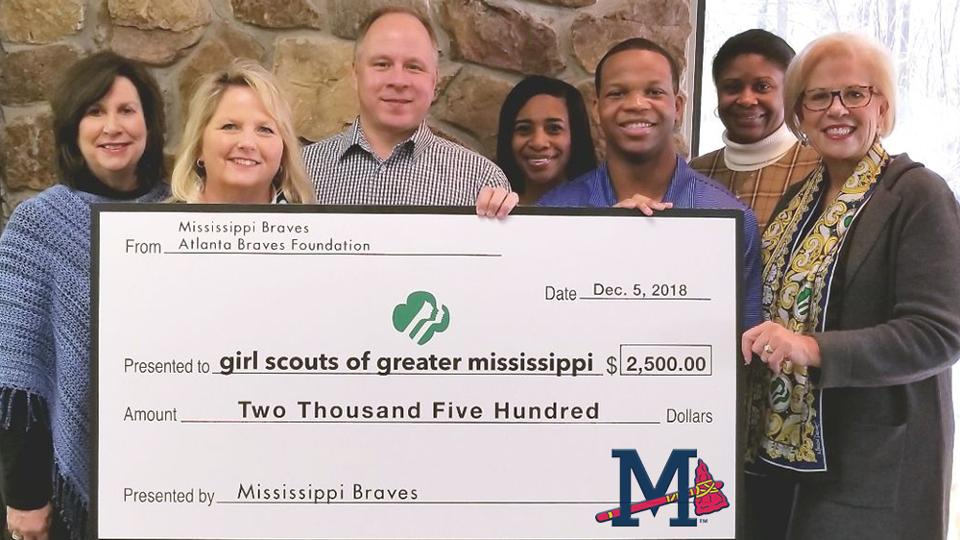 Atlanta Braves Foundation Awards $2,500 Grant to Girl Scouts of Greater Mississippi