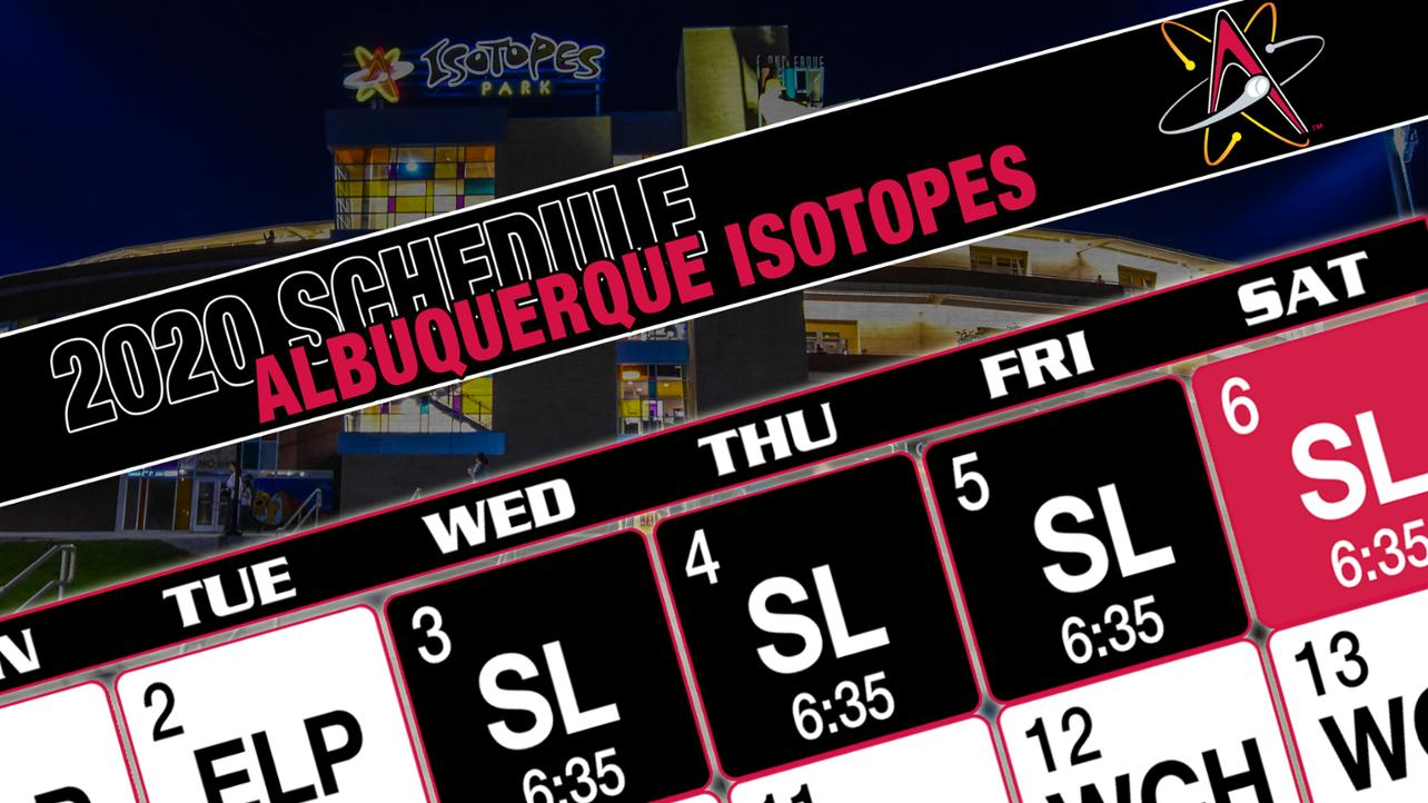 Isotopes Release 2020 Schedule