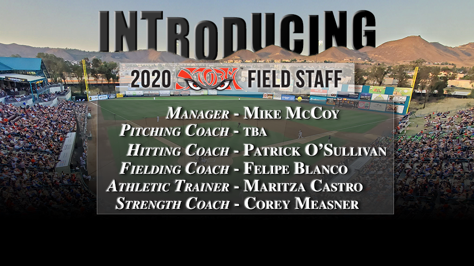 Padres Announce Storm Field Staff for 2020 Season