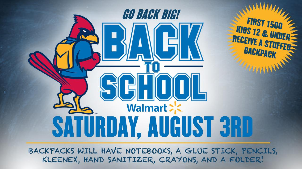 Redbirds, Walmart Partner to Give Out School Supplies on