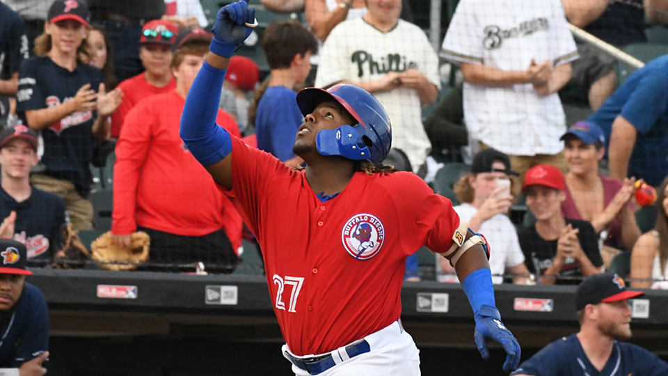 Vladimir Guerrero Jr. hits home run out of stadium