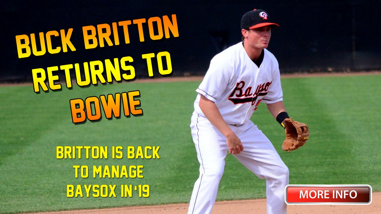 Britton Is Back To Manage Baysox in '19