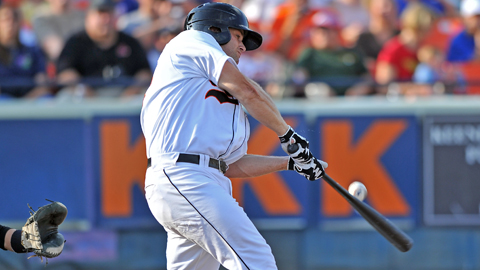Aaron Baker has a .746 OPS in 57 games for the Baysox.
