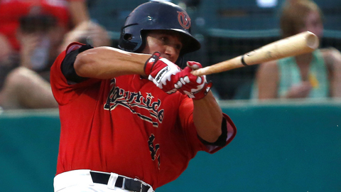 David Peralta hit .346 in 51 California League games this season.