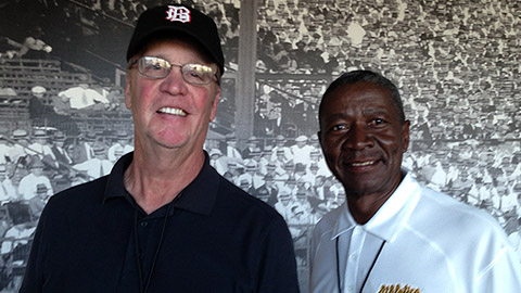 Larry Colton (left) and Blue Moon Odom both played in the Southern League.