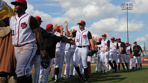 The Flying Squirrels had a 40-31 record at home in 2013.