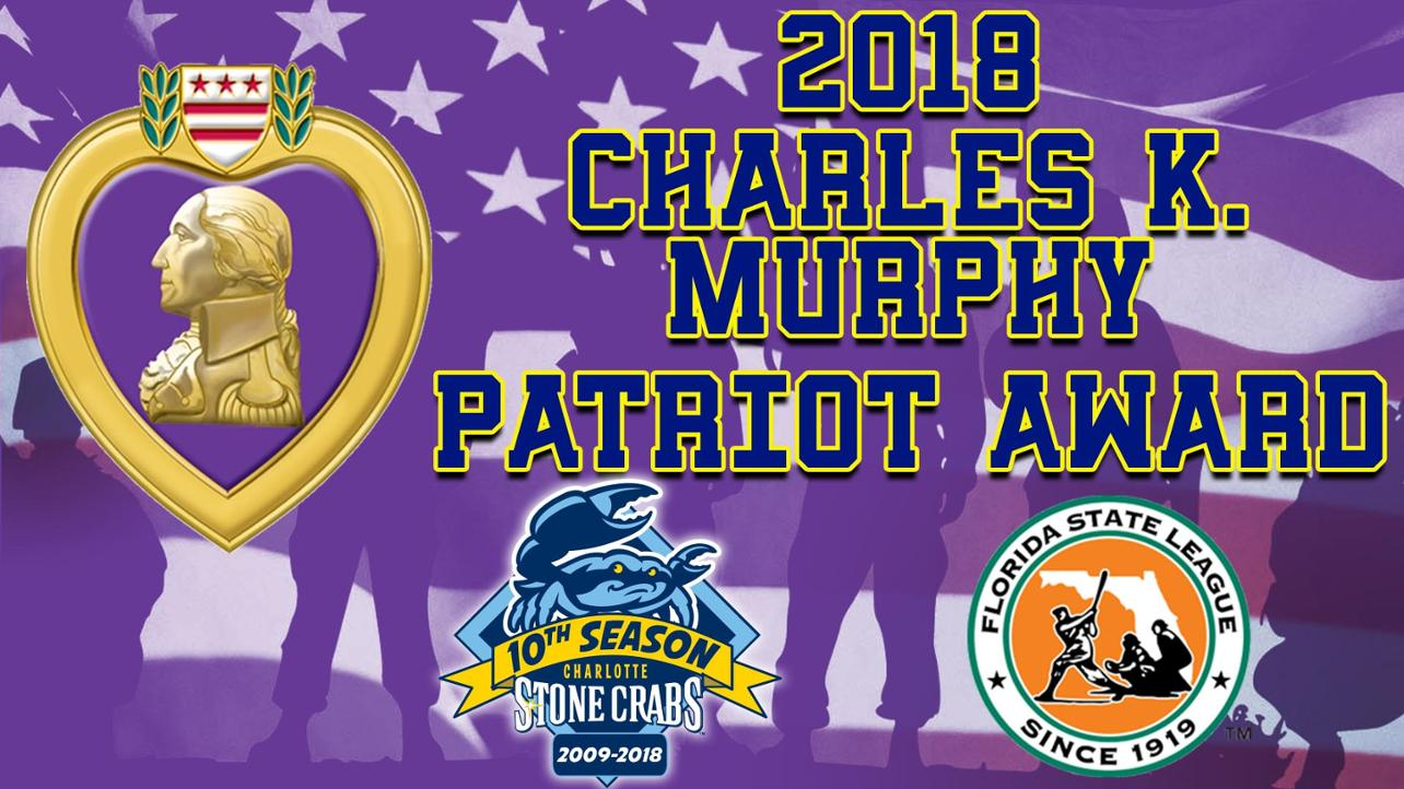 Stone Crabs Awarded Florida State League Patriot Award!