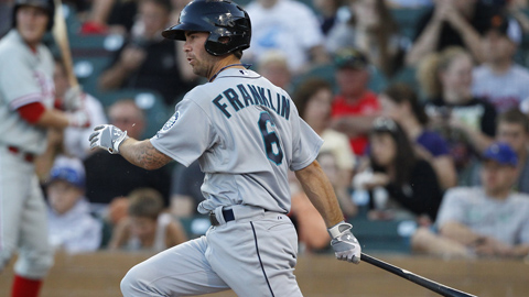 Nick Franklin has a 1.109 OPS in 12 games with Tacoma this year.