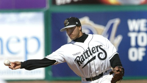 Juan Sanchez was a Timber Rattler in 2009. He spent the 2013 season playing with the Lake Erie Crushers of the Frontier League. Jeff Isom, his manager in Wisconsin, was also his manager this year in 2013.