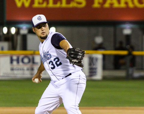 Carlos Quevedo worked five hitless frames of relief and retired the final 10 men he faced in order.