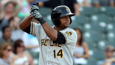 Andy Marte hit .362 in 26 games for Salt Lake this season.
