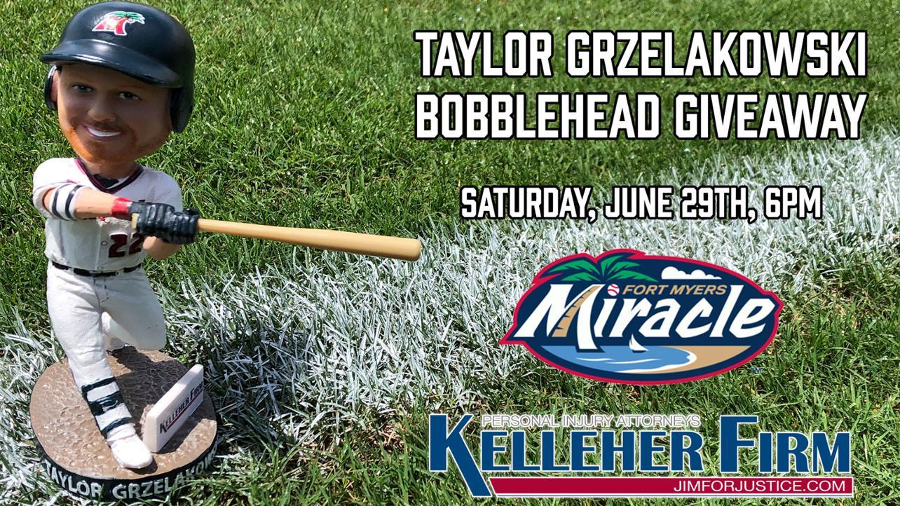 Taylor Grzelakowski Bobblehead Giveaway June 29th