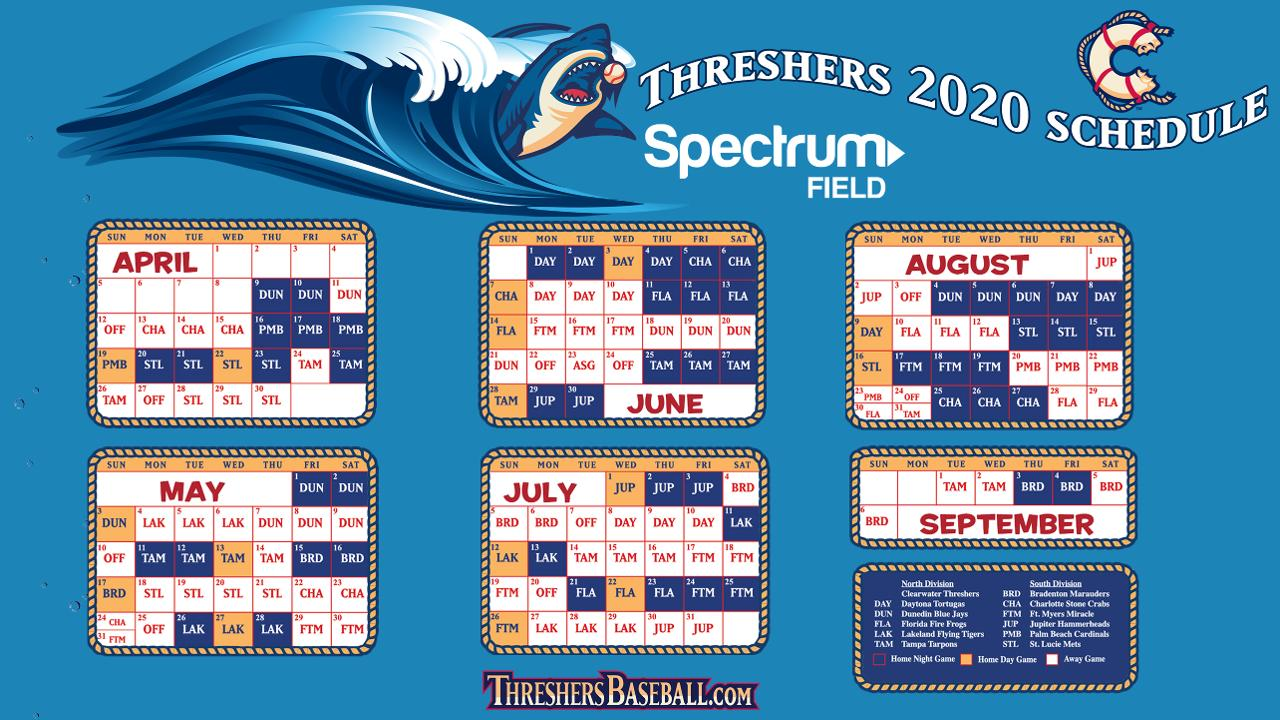 Phillies 2020 Spring Training Schedule.Threshers Announce 2020 Schedule Clearwater Threshers News