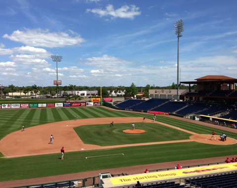 The Cubs and Threshers played three lopsided games at Bright House Field this week - with Daytona winning 8-1 and 13-2, and Clearwater defeating the Cubs 15-6.