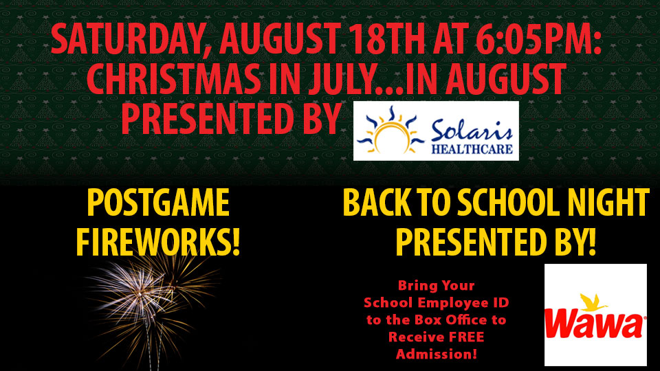 join us for christmas in august and fireworks